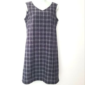 Vintage Northern Reflections Navy Plaid Dress M